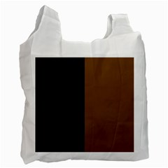 Black Brown Recycle Bag (two Side)
