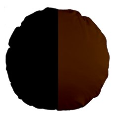 Black Brown Large 18  Premium Round Cushions