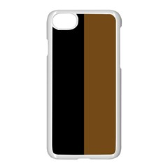 Black Brown Apple Iphone 8 Seamless Case (white)