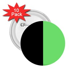 Black Green 2 25  Buttons (10 Pack)  by TimelessDesigns