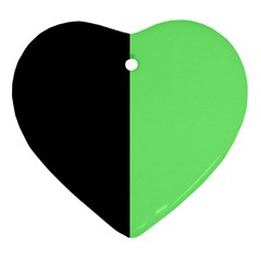 Black Green Heart Ornament (two Sides) by TimelessDesigns