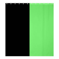 Black Green Shower Curtain 66  X 72  (large)  by TimelessDesigns