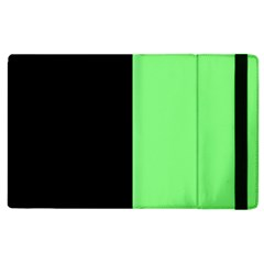 Black Green Apple Ipad 2 Flip Case by FEMCreations