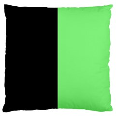 Black Green Standard Flano Cushion Case (one Side)