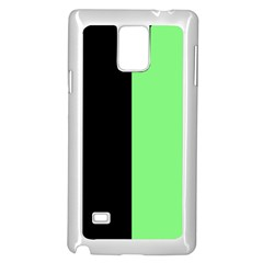 Black Green Samsung Galaxy Note 4 Case (white) by TimelessDesigns
