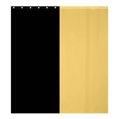 Black Orange Shower Curtain 66  X 72  (large)  by TimelessDesigns