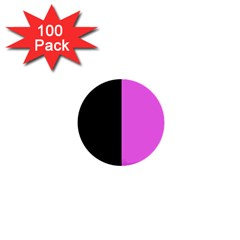 Black Pink 1  Mini Buttons (100 Pack)  by TimelessDesigns