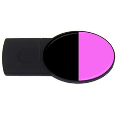 Black Pink Usb Flash Drive Oval (2 Gb)