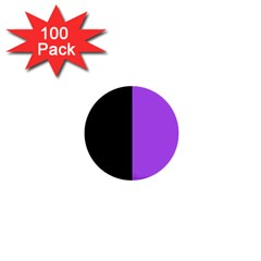 Black Purple 1  Mini Buttons (100 Pack)  by TimelessDesigns