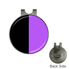 Black Purple Hat Clips With Golf Markers