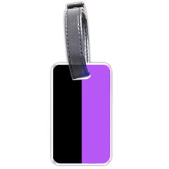 Black Purple Luggage Tags (one Side)  by FEMCreations