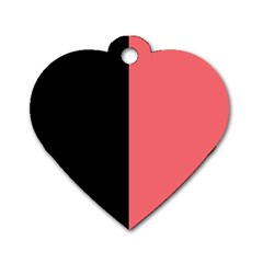 Black Red Dog Tag Heart (two Sides) by TimelessFashion