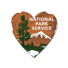 U S  National Park Service Arrowhead Insignia Heart Magnet by abbeyz71