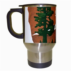 U S  National Park Service Arrowhead Insignia Travel Mugs (white) by abbeyz71