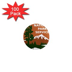 U S  National Park Service Arrowhead Insignia 1  Mini Magnets (100 Pack)  by abbeyz71