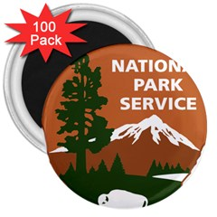 U S  National Park Service Arrowhead Insignia 3  Magnets (100 Pack) by abbeyz71