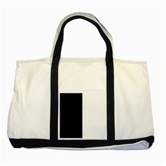 Black White Two Tone Tote Bag by FEMCreations
