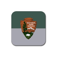 Guidon Of U S  National Park Service Rubber Coaster (square)  by abbeyz71