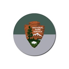 Guidon Of U S  National Park Service Rubber Coaster (round)  by abbeyz71