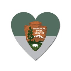 Guidon Of U S  National Park Service Heart Magnet by abbeyz71