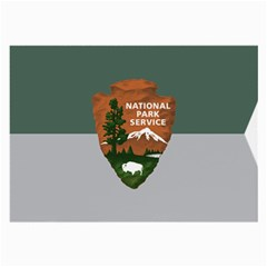 Guidon Of U S  National Park Service Large Glasses Cloth (2 Side) by abbeyz71