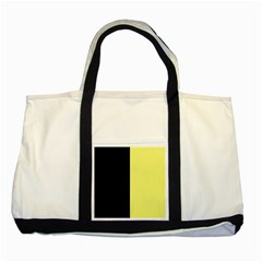 Black Yellow Two Tone Tote Bag by TimelessFashion