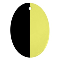 Black Yellow Oval Ornament (two Sides)