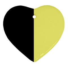 Black Yellow Heart Ornament (two Sides) by TimelessDesigns