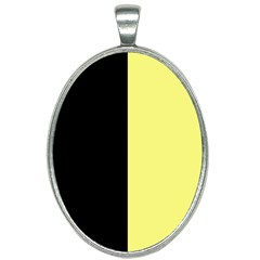 Black Yellow Oval Necklace by TimelessFashion