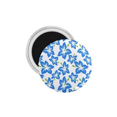Blue Blossom 1 75  Magnets