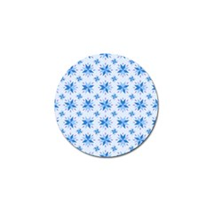 Blue Floral Golf Ball Marker (4 Pack)