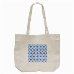 Blue Floral Tote Bag (cream) by FEMCreations