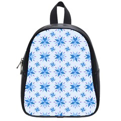 Blue Floral School Bag (small)