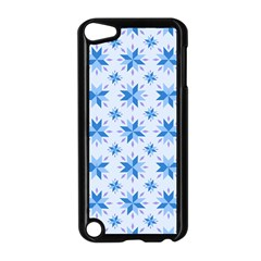 Blue Floral Apple Ipod Touch 5 Case (black) by FEMCreations