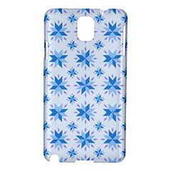 Blue Floral Samsung Galaxy Note 3 N9005 Hardshell Case