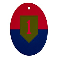 United States Army First Infantry Division Flag Oval Ornament (two Sides) by abbeyz71