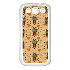 Sankta Lucia With Love And Candles In The Silent Night Samsung Galaxy S3 Back Case (white) by pepitasart