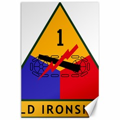 U S  Army 1st Armored Division s Combat Service Identification Badge  Canvas 24  X 36  by abbeyz71