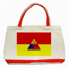 Flag Of U S  Army 1st Armored Division Classic Tote Bag (red) by abbeyz71