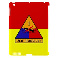 Flag Of U S  Army 1st Armored Division Apple Ipad 3/4 Hardshell Case (compatible With Smart Cover)