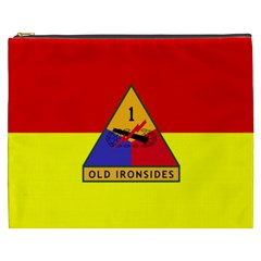 Flag Of U S  Army 1st Armored Division Cosmetic Bag (xxxl)