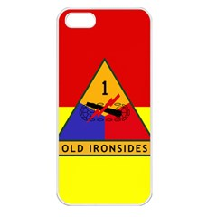 Flag Of U S  Army 1st Armored Division Apple Iphone 5 Seamless Case (white)