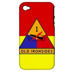 Flag Of U S  Army 1st Armored Division Apple Iphone 4/4s Hardshell Case (pc+silicone)