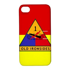 Flag Of U S  Army 1st Armored Division Apple Iphone 4/4s Hardshell Case With Stand