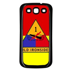 Flag Of U S  Army 1st Armored Division Samsung Galaxy S3 Back Case (black)