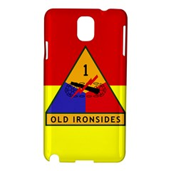 Flag Of U S  Army 1st Armored Division Samsung Galaxy Note 3 N9005 Hardshell Case