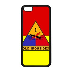 Flag Of U S  Army 1st Armored Division Apple Iphone 5c Seamless Case (black)