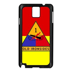 Flag Of U S  Army 1st Armored Division Samsung Galaxy Note 3 N9005 Case (black)