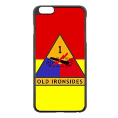 Flag Of U S  Army 1st Armored Division Apple Iphone 6 Plus/6s Plus Black Enamel Case