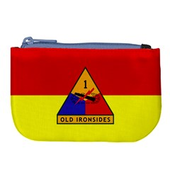 Flag Of U S  Army 1st Armored Division Large Coin Purse
